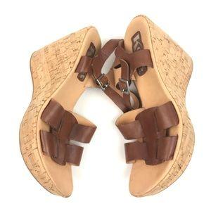 Kork Ease Brown cork Platform Sandals Sz 7